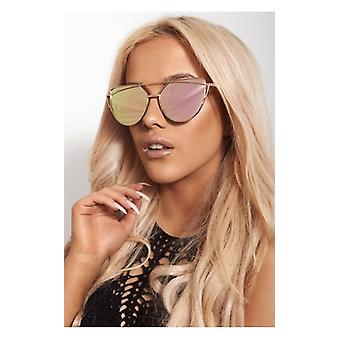The Fashion Bible Amber Gold High Bar Sunglasses