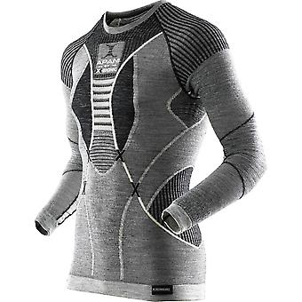 Apani Herre skjorte langærmet merino Fastflow grå - I100465-B407