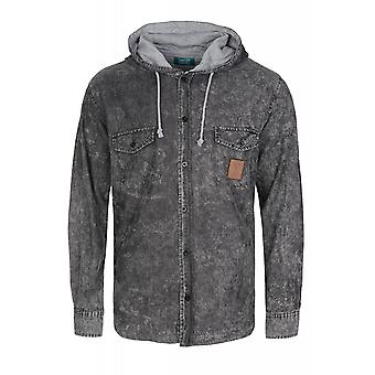 Sweet SKTBS Outback shirt men's long sleeve-grey shirt with hood