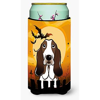 Halloween Basset Hound Tall Boy Beverage Insulator Hugger