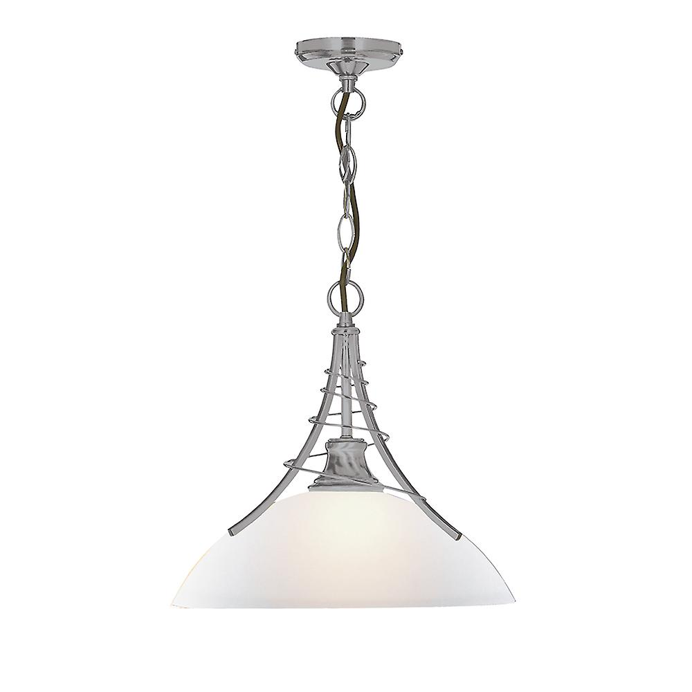 Searchlight 5224SS Linea Satin Silver Ceiling Pendant