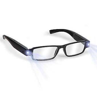 Boolavard® TM Black LED Reading Glasses-presbyopic glasses with LED light Power/Diopter; +1.0 +1.5 +2.0 +2.5 +3.0 UPICK