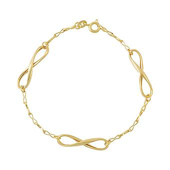 9ct 375 Gold Womens Ladies Infinity Charms Chain Stunning Fine Solid Bracelet