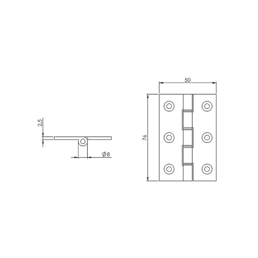 Premium M4TEC ZC7 Polished Brass Interior DPBW Butt Door Hinge - Sturdy, Durable & Easy To Install – With Double Phosphor Bronze Washers & Square Corners – Ideal For General Joinery & Furniture. 2pcs