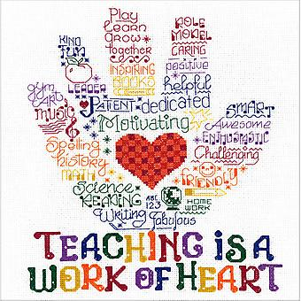 Let's Hug A Teacher Counted Cross Stitch Kit-10