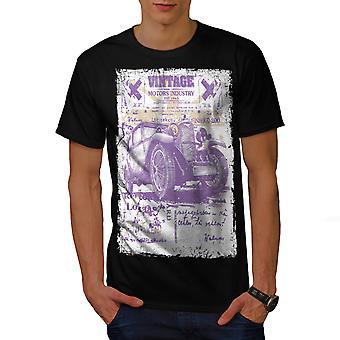 Auto Old School Vintage heren gekleedinzwartet-shirt | Wellcoda
