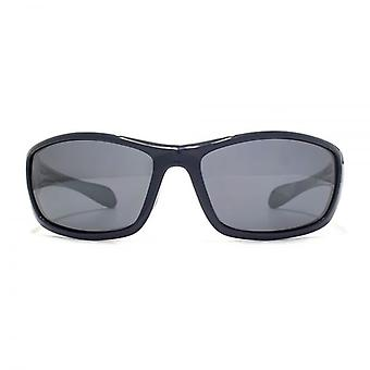 Freedom Polarised Rushmore Sports Wrap Sunglasses In Shiny Navy