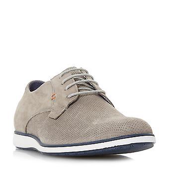 Mens dune BALTHAZAR coincée seule Casual Lace Up chaussures en gris