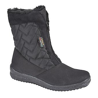 Ladies Womens Thermal Waterproof Warm Lined Winter Zip Ankle Boots Shoes
