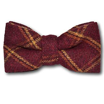 Heritage Warm Red Check Bow Tie