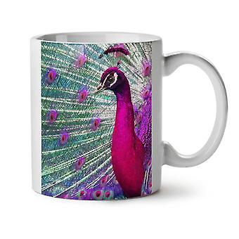 Peacock Animal Paint NEW White Tea Coffee Ceramic Mug 11 oz | Wellcoda
