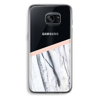 Samsung Galaxy S7 Transparent Grenzfall (Soft) - ein Hauch von Pfirsich
