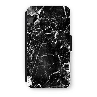 iPhone X Flip Case - svart marmor 2