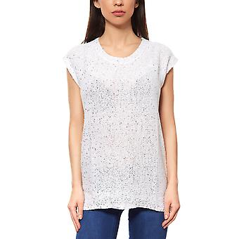 vivance collection ladies sequin T-Shirt white