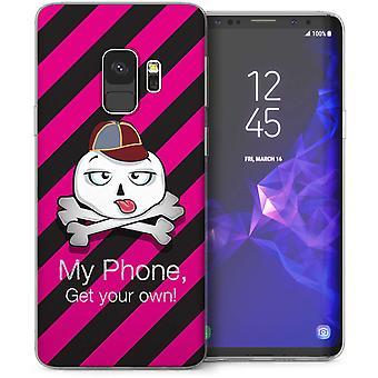 Samsung Galaxy S9 Cartoon schedel TPU Gel Case – roze