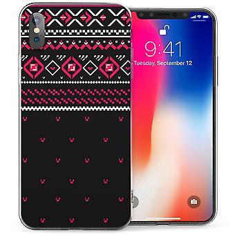 iPhonegeval X Fairisle Dots Jumper TPU Gel - zwart / roze