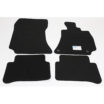 Fully Tailored Car Floor Mats - Mercedes CLS 2011-2018 Black