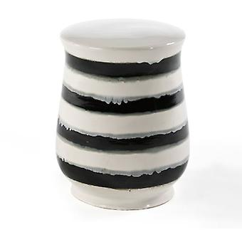 Wellindal Ceramic Stool Black and White (Möbel , Esszimmer und Küche , Hocker)