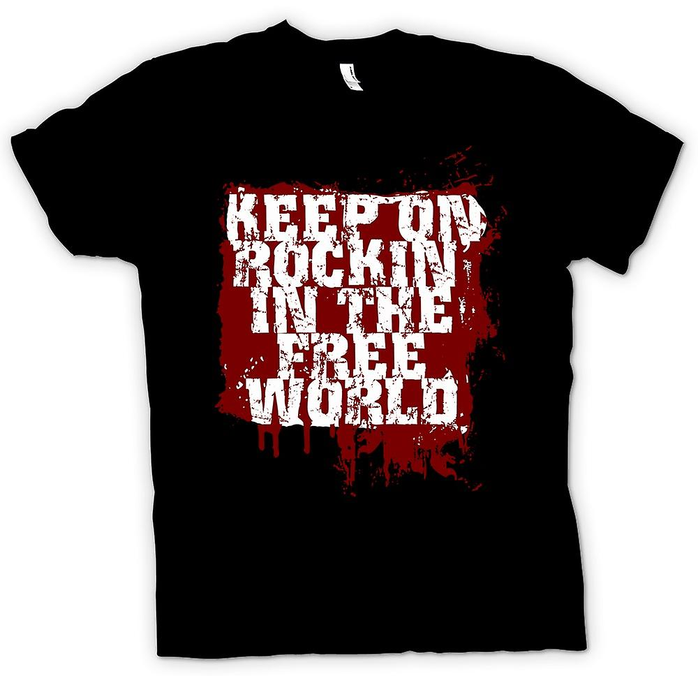 Womens T-shirt - Keep On Rockin In The Free World