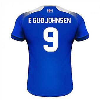 2018-2019 أيسلندا آريا المنزل كرة القدم قميص (غوديونسون E 9)