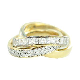 Esprit Collection Damen Ring Silber Gold Zirkonia Tridelia Gr.18 ELRG92258C180