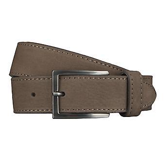 BALDESSARINI belt leather belts men's belts charcoal/grey 4545
