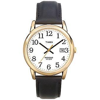 Timex Mens vit svart Easy Reader T2H291 klocka