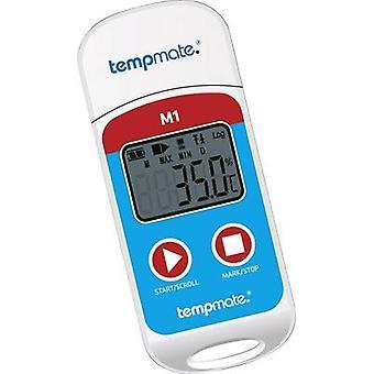 registrador de datos de temperatura de tempmate M1 unidad de generador de medida temperatura -30 hasta + 70 ° C PDF calibrado a