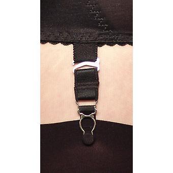 Berdita Lingerie 4 vaste Bretel pak / ribbelst haken voor kousen