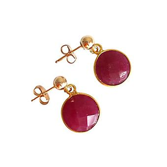 Earrings with rubies Ruby Earrings Ruby earring gold