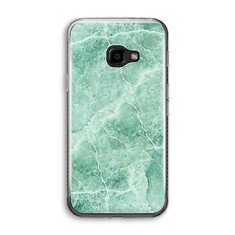 Samsung Galaxy XCover 4 Transparent Case (Soft) - Green marble