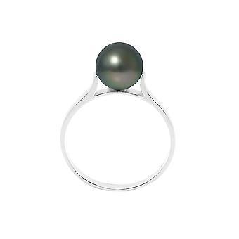 Bague Jonc Perle de Tahiti 8 mm et Argent 925/1000