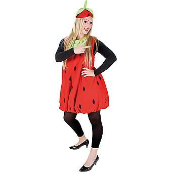 Strawberry plush dress costume ladies Carnival fruit