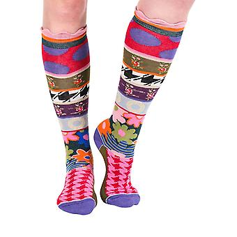 London women's crazy cotton knee-high socks | By Dub & Drino