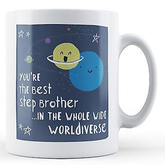 Jesteś najlepszy krok brata w całym szerokim Worldiverse - kubek z nadrukiem