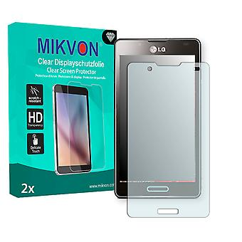 LG P710 Optimus L7 II Screen Protector - Mikvon Clear (Retail Package with accessories)
