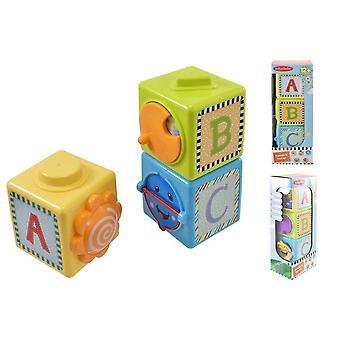 Baby Stacking Blocks Toddler Stimulating Sensory Learning Activity Shape Toy