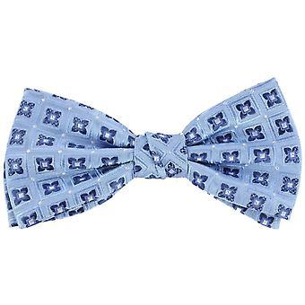 Knightsbridge Neckwear Flower Silk Bow Tie - Blue