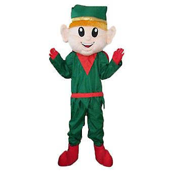 mascot SPOTSOUND Elf, Elf Christmas, dressed in green and Red