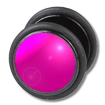 Gefälschte Cheater-Ohr-Stecker, Ohrring, Körperschmuck, rosa