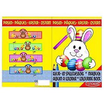 Ostern-Farbe und Spiele-Buch