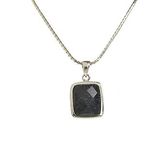 Cavendish French A Little Square Blue Sandstone Pendant without Chain