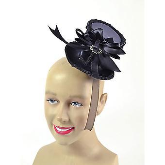 Ladies Tall Hat. Black Mini