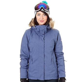 Roxy Crown Blue Jet Ski Solid Womens Ski Jacket