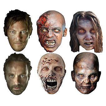 The Walking Dead Party Card Face Masks Variety Set of 6