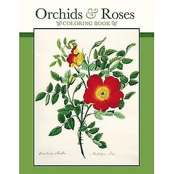 Orchids & Roses Colouring Book CB166