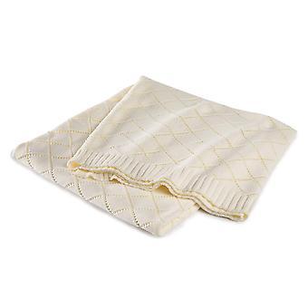 Cinderella plaid 130 x 170 cm madeleine wool white