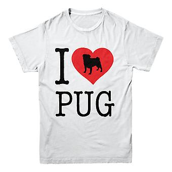 Official Pet-Selfie T-Shirt -I Love PUG