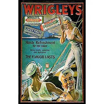 Wrigleys Sailors embossed steel sign