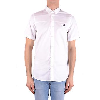 Fred Perry White Cotton Shirt